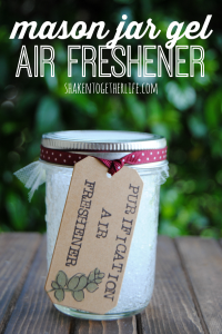 DIY mason jar gel air fresheners - great for gifts, the office and small spaces!