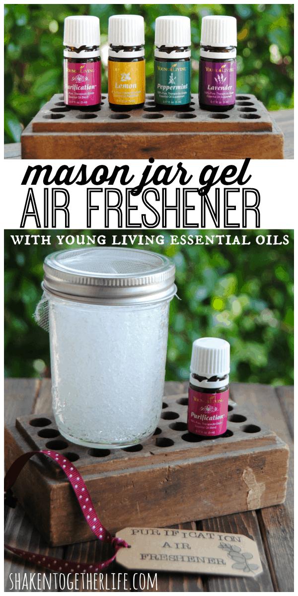 DIY Mason Jar Gel Air Fresheners
