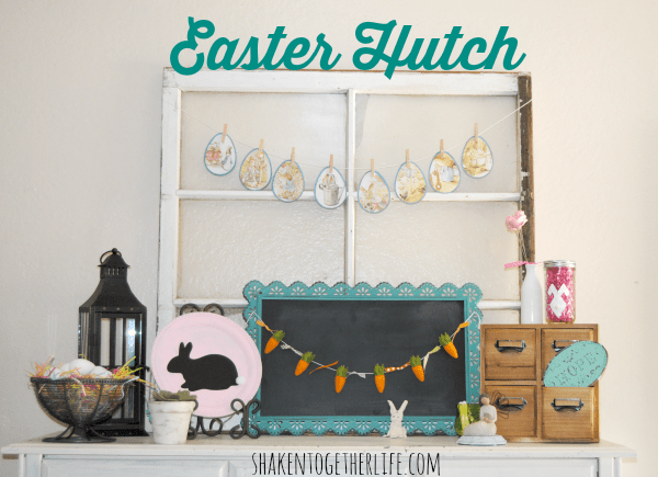 My {almost} Easter mantel and rustic Easter decor