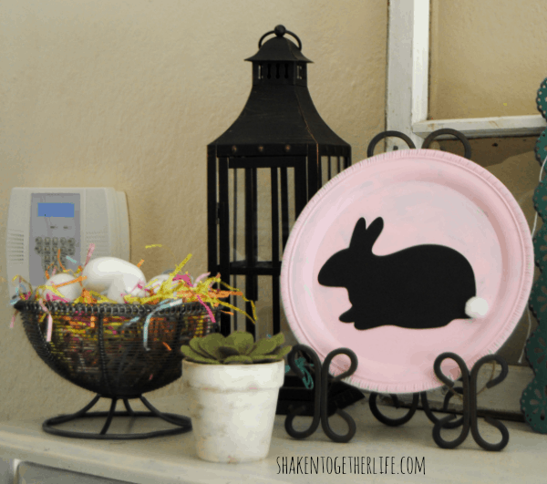 My {almost} Easter mantel