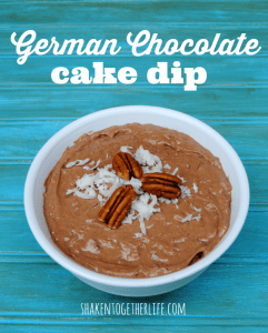 German chocolate cake dip - tastes just like a slice of cake!