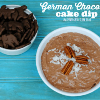 German chocolate cake dip - tastes just like a slice of cake and frosting!