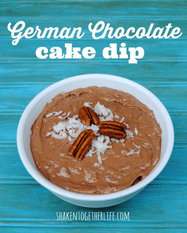 German chocolate cake dip - tastes just like a slice of cake!