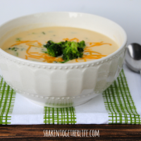 Creamy broccoli cheese soup - the most delicious way to eat your vegetables!