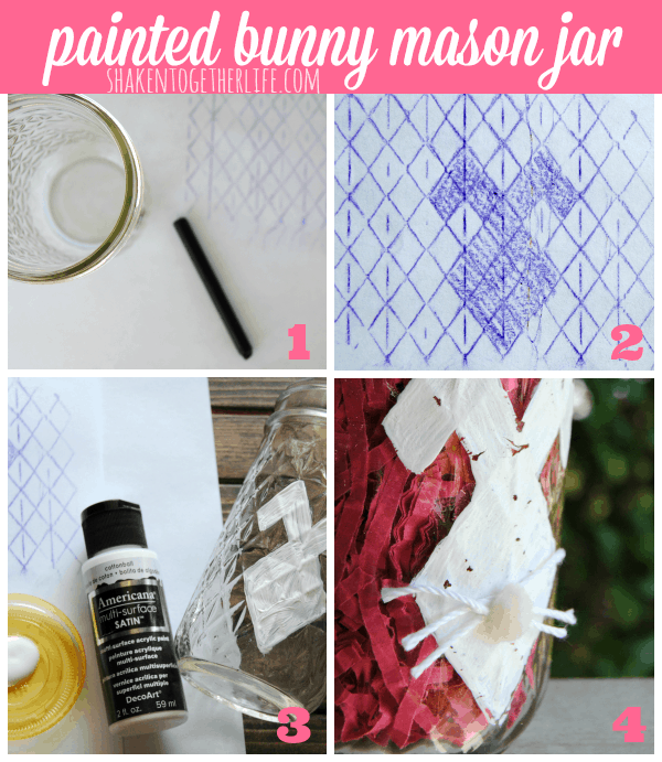 How to make a painted bunny mason jar for Easter!