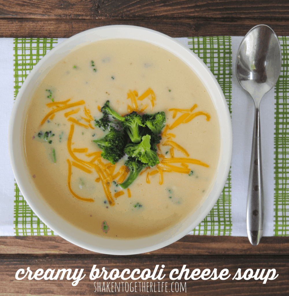 This rich, creamy broccoli cheese soup started with my grandma's recipe - beyond delicious!