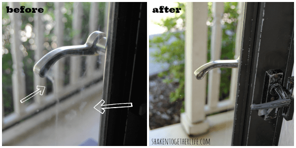 Before and after using my DIY all natural window cleaner