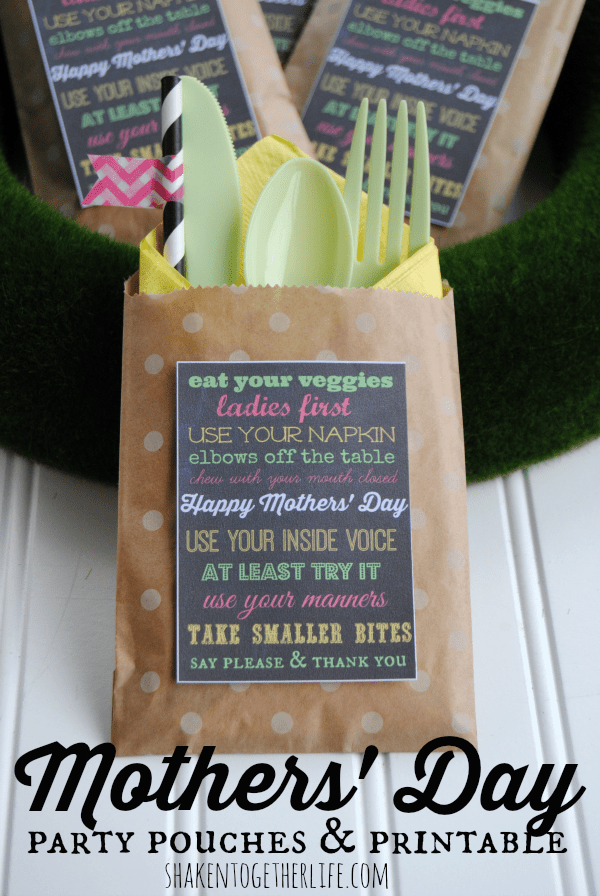 Party Pouches Are One Of My Favorite Entertaining Ideas No More Fumbling With Silverware At