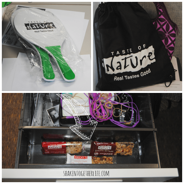 Taste of Nature swag around our office!