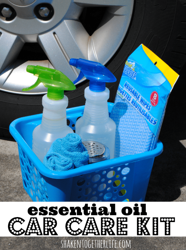 Make an essential oil car care kit - DIY all natural cleaner recipes, too!