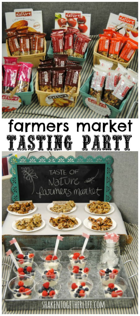 Taste of Nature farmers market tasting party!