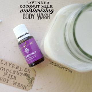 I absolutely LOVE making my own body wash and this moisturizing version with lavender and coconut milk is SO awesome!