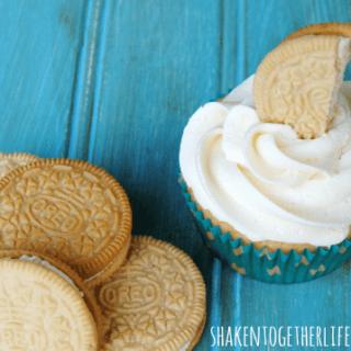 Marshmallow Crispy Oreo Cupcakes with Marshmallow Buttercream