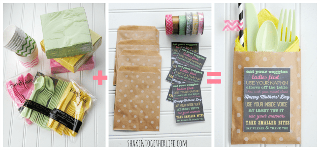 How to make party pouches - an easy entertaining idea from shakentogetherlife.com