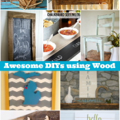 9 Awesome DIY Projects using wood!
