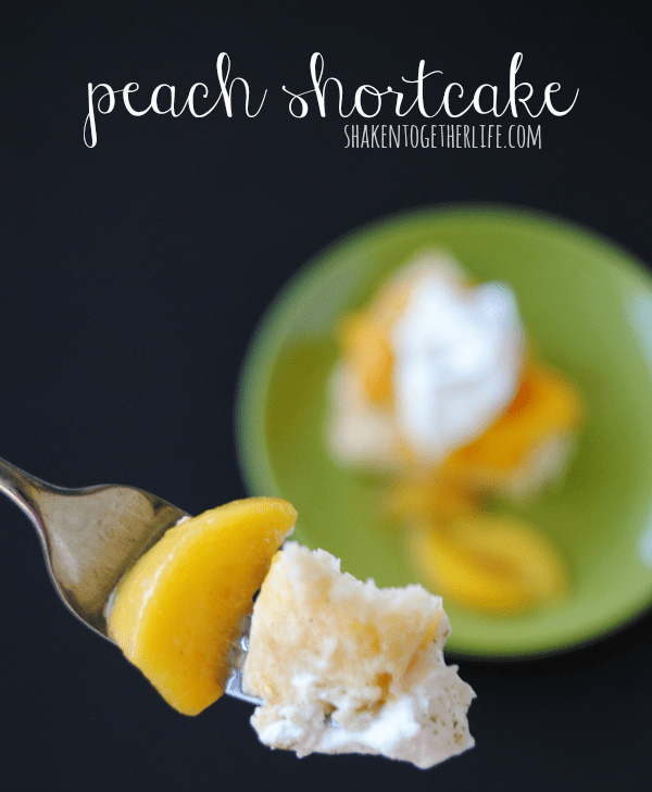 Peach shortcake is the perfect Summer dessert!