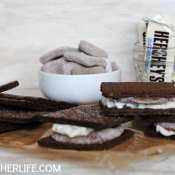 Double chocolate cookies and cream s'mores - I may never eat regular s'mores again!