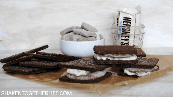 Double Chocolate Cookies and Cream S'mores