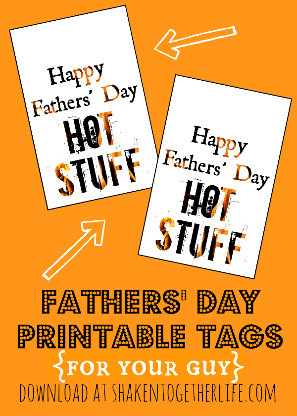 Free printable Fathers' Day gift tags + cute last minute gift ideas for them!
