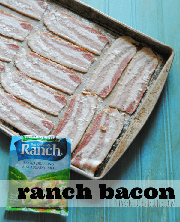 Two ingredients are all you need to make ranch bacon!