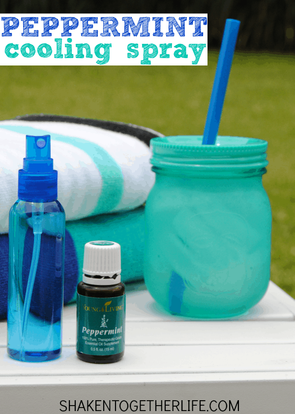 2-ingredient Peppermint Cooling Spray with Young Living Essential oil!