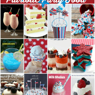Red, white and blue patriotic party food!