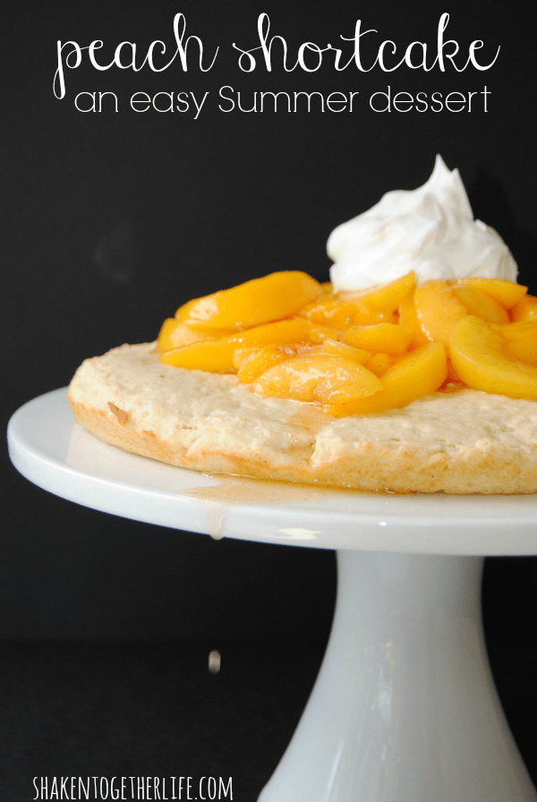 Juicy peaches simmered with cinnamon ginger atop a not-too-sweet shortcake biscuit