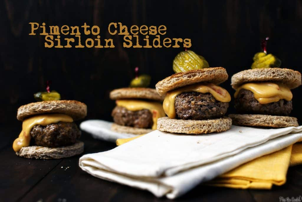 Pimento cheese sirloin sliders from Pass the Sushi
