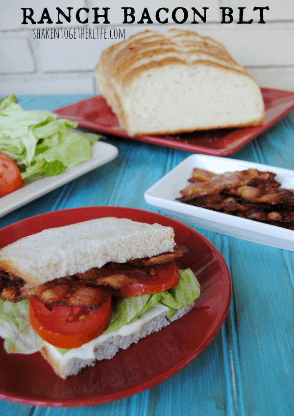 Crispy baked ranch bacon makes a pretty awesome BLT