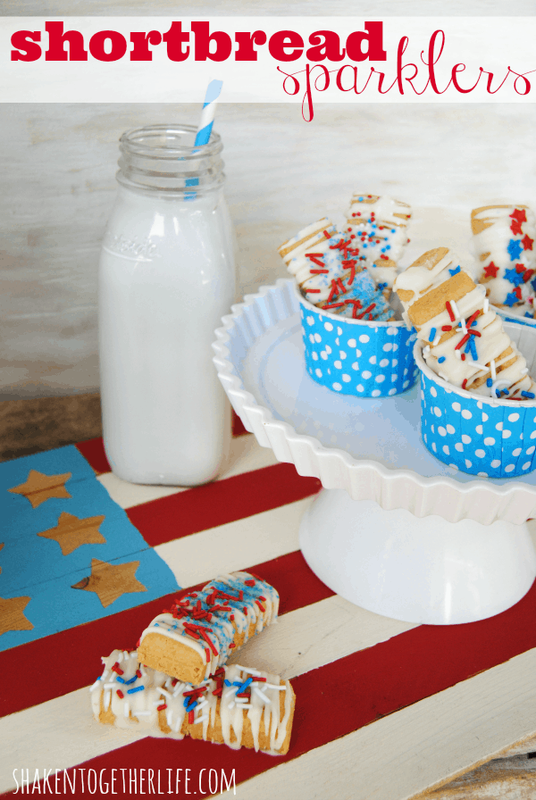 Shortbread sparklers - the easiest no-bake treat done in minutes!
