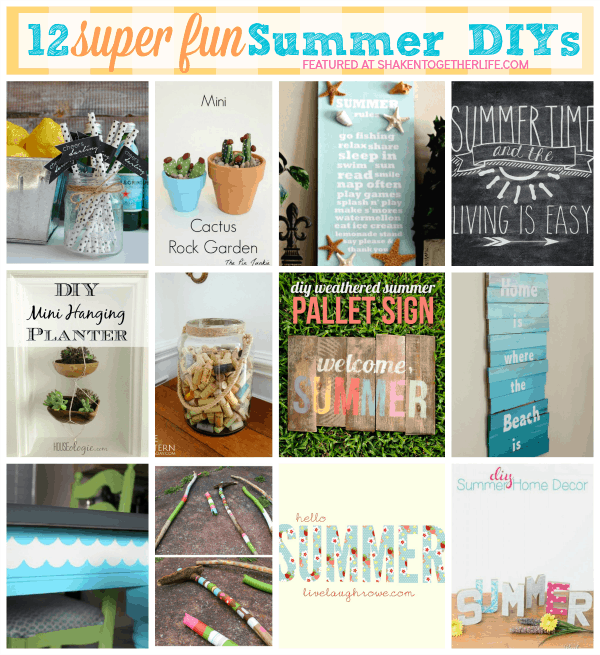 12 super fun Summer DIYs ... projects big and small, bright and colorful!