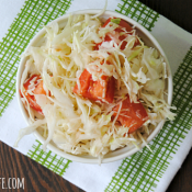 Crisp Cabbage Salad with Lemon Garlic Dressing