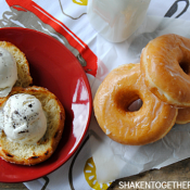 Grilled donuts a la mode! These look SO delicious!