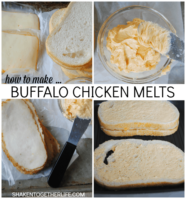 How to make Buffalo Chicken Melts - the secret is in that butter!