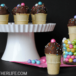 Bite sized mini ice cream cone cake pops