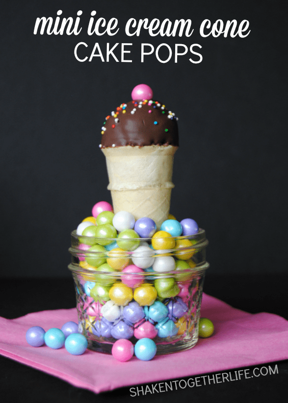 Mini Ice Cream cake pops - how cute are these?!