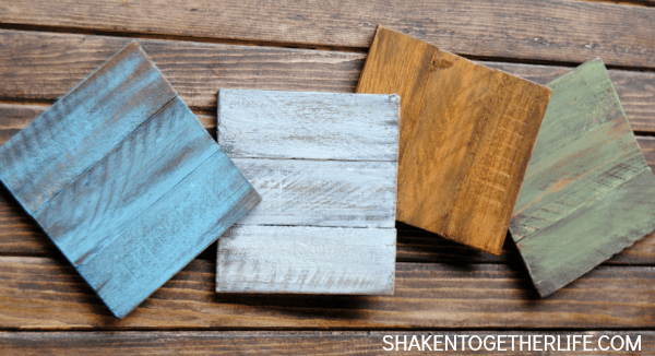 Painted Wooden Coasters Made With Cedar Shims