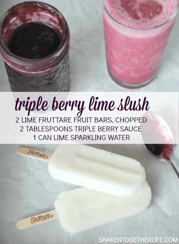 Hot day? A triple berry lime slush will fix you right up!