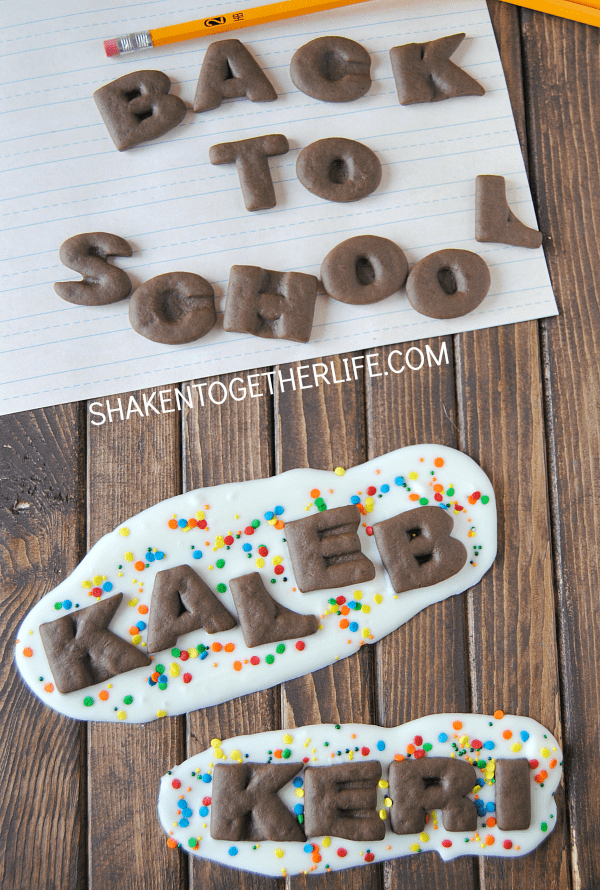 Beat the back to school blues with quick and easy back to school cookie bark!