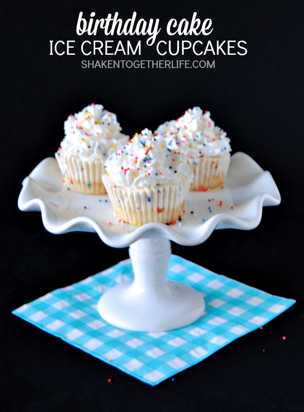 Cake Ice Cream Birthday : {Inspired} Birthday Cake Ice Cream Cupcakes