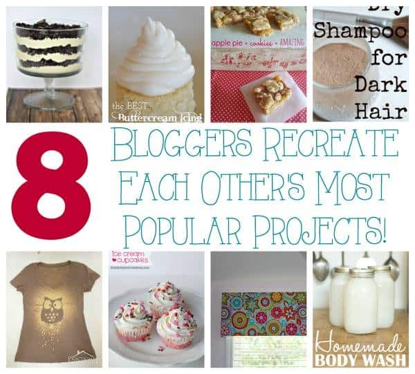 Come see what happens when bloggers recreate each others' most popular projects!! {Hint: I made cupcakes!}