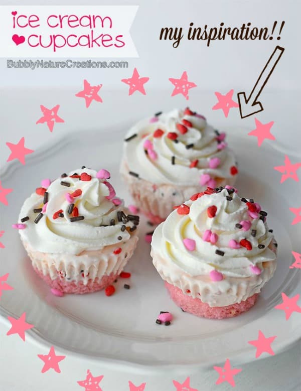 The inspiration for my birthday cake ice cream cupcakes!