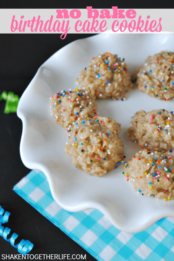 Soft Chewy No Bake Birthday Cake Cookies