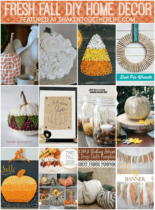 Fresh fall diy home decor for Homemade fall decorations for home