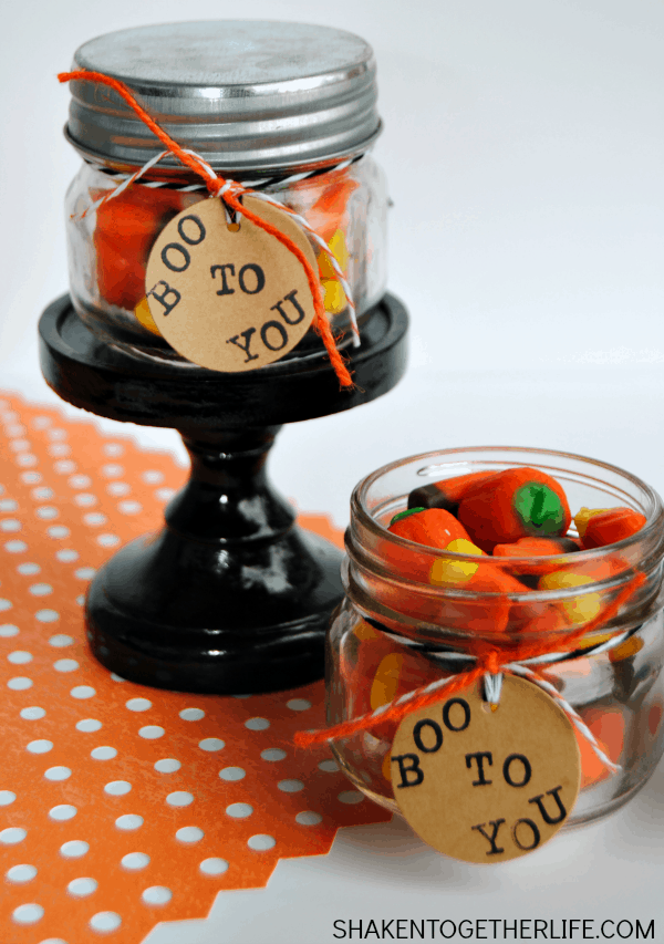 Sweet little BOO TO YOU Halloween mason jar gifts