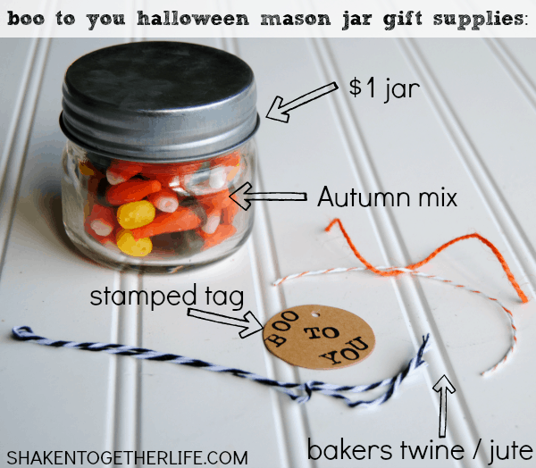 Make a BOO TO YOU Halloween mason jar gift