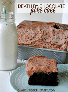 Death by Chocolate Poke Cake - grab a fork and say a prayer!