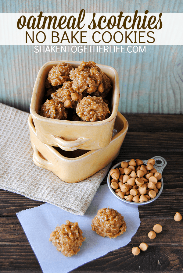 Classic oatmeal scotchies get an easy no bake makeover! If you love butterscotch, you will LOVE these cookies!