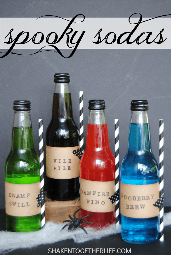 Spooky Sodas - fun DIY Halloween party idea!