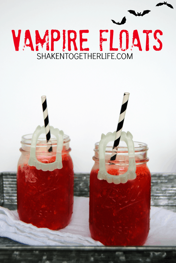 Vampire Floats - just two ingredients and loads of spook appeal!